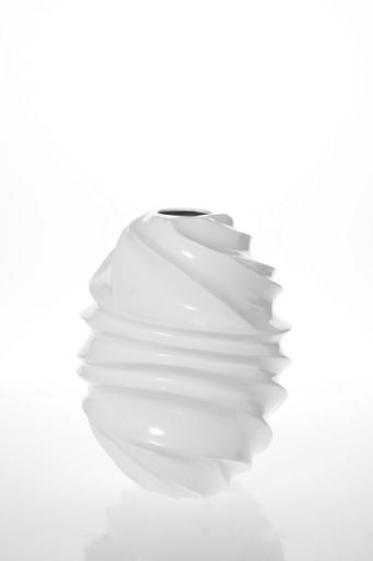 Vaza VASE WHITE TWIST 46