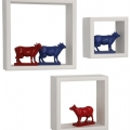 Sisteme de depozitare: Polite Wall Cubes (3/Set) White
