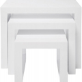 Masute: Masute White Club Nest Of 3 Tables