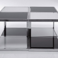 Masute: Coffee Table Black & White (4/Set)