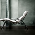 Sezlonguri: Relax Chair Soso Chrome/ Imitation Leather White