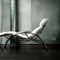 Sezlonguri: Relax Chair Soso Chrome/ Imitation Leather White