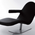 Sezlonguri: Relax Chair Lino Black AL