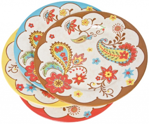 Dinner Plate Paisley Assorted