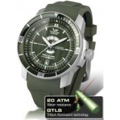 Ceas de mana barbatesc cu curea din silicon Vostok-Europe Ekranoplan GTLS 2432.01/5455107