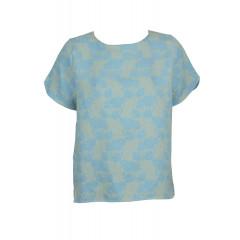 Tricou albastru dama cu imprimeu ZARA Margot Blue