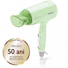Uscator de par Philips Salon Essential HP8107/00, Putere 1200W, 3 trepte de viteza, Cablu 1,60 metri, Functie de aer rece (Mint Green)