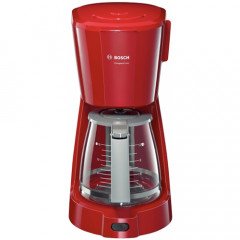 Cafetiera Bosch CompactClass TKA3A014, Putere 1100W, Sistem antipicurare, Filtru detasabil, (Rosu)