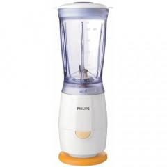 Blender Philips Mini HR2860/55, Putere 220W, Capacitate 0,40 litri, O treapta de viteza, 1 accesoriu (Ivory Blue)