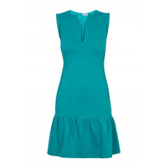 Rochie turquoise din bumbac model R484