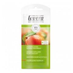 Tratament bio pentru par cu mango unt de shea si ulei de avocado pentru protectia culorii parului vopsit lavera plic 25 ml