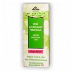 Crema sebo-reglatoare purificatoare 50ml Gerovital Plant Stop Acnee