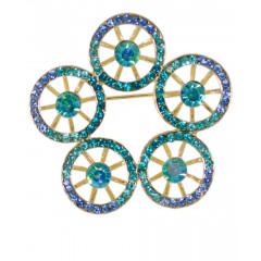 Brosa- cristale albastre