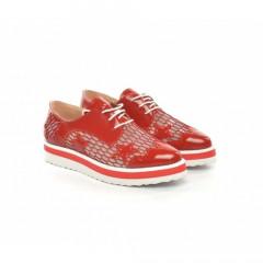 Pantofi Casual Mido Rosii