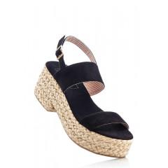 Sandale cu platforma din sfoara impletita