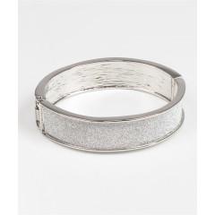Bratara fixa, argintie, metalica