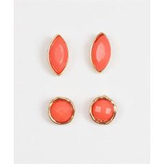 Set 2 perechi cercei, portocalii