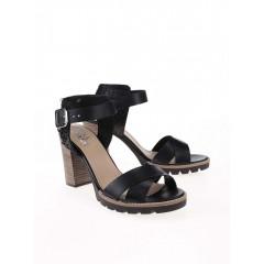 Sandale dama din piele cu toc