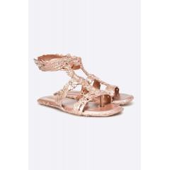 Sandale aurii cu model inedit
