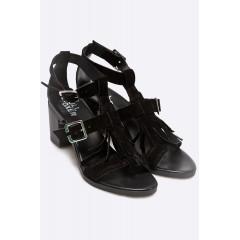Sandale negre cu toc Bullboxer
