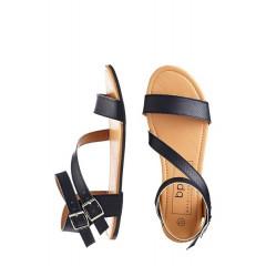 Sandale negre cu talpa joasa