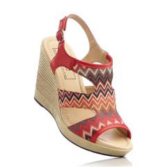 Sandale multicolore cu platforma