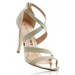 Sandale aurii cu toc de 10,5 cm