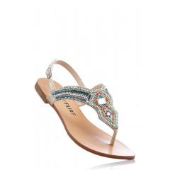 Sandale joase cu pietre multicolore