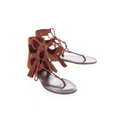 Sandale maro cu sireturi ALDO