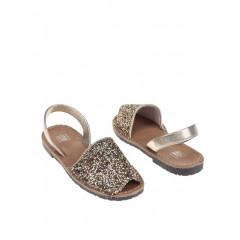 Sandale aurii cu paiete