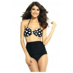 Costum de baie cu buline model pin-up