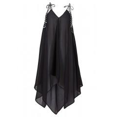 Rochie de plaja neagra, transparenta
