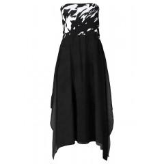 Rochie de plaja neagra cu umerii goi