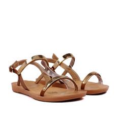 Sandale joase maro din piele ecologica