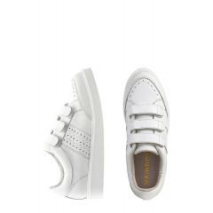 Pantofi sport albi din piele