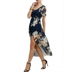 Rochie Bleumarin Stil Kimono