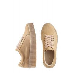Pantofi sport bej cu siret