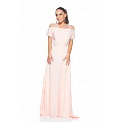 Rochie lunga roz de vara