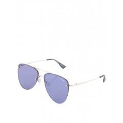 Ochelari de soare cu lentile albastre si rame argintii Le Specs The Prince