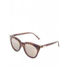 Ochelari de soare cu lentile maro si rama animal print