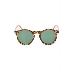 Ochelari de soare cu lentile verzi si rama animal print