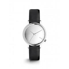 Ceas argintiu cu negru Komono Estelle Mirror