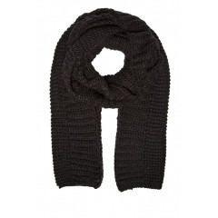 Fular negru tricotat