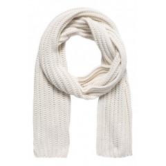 Fular alb tricotat