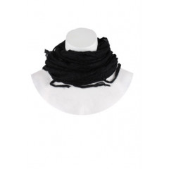 Fular negru cu franjuri OVS