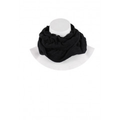 Fular negru incretit decorativ