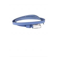 Curea albastra cu catarama metalica pentru inchidere