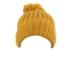 Caciula galben inchis tricotata