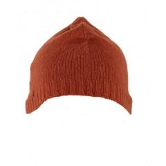Caciula portocaliu inchis tricotata