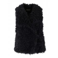 Vesta neagra Vero Moda din blana artificiala
